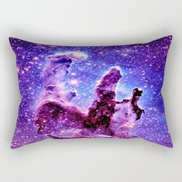 Galaxy Nebula : Pillars of Creation Purple Blue Rectangular Pillow