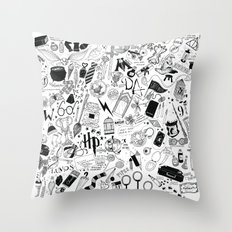 Hogwarts, Hogwarts, Hoggy Warty Hogwarts Throw Pillow