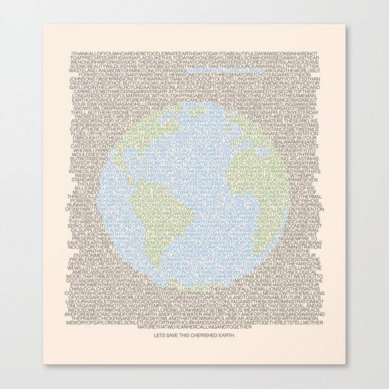 Environmental Consciousness Canvas Print