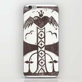 Love (White) iPhone Skin
