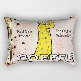 Vintage Coffee Can Rectangular Pillow