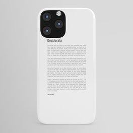 Desiderata #minimalism iPhone Case
