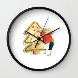 Nonna and th Giant Cookie Wall Clock