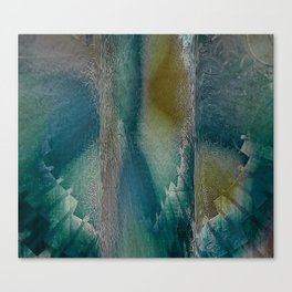 Industrial Wings in Teal Canvas Print