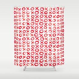 Xoxo valentine's day - red Shower Curtain