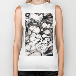 Sensations in Black and White with Brown and a bit of Green Biker Tank
