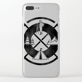 Camping Outdoor Activity Funny Clear iPhone Case
