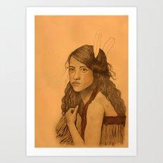 Tribal Girl Art Print