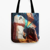 dragons Tote Bags featuring Dragons by youcoucou