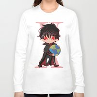 chibi Long Sleeve T-shirts featuring Chibi Kamui by Neo Crystal Tokyo