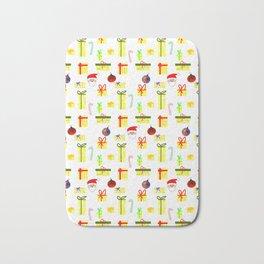Christmas Gift Pattern Bath Mat