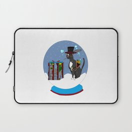 A Snow Globe with a Steampunk Kitty Laptop Sleeve