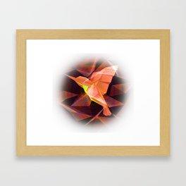 Hummingbird Origami Print Framed Art Print