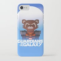 rocket raccoon iPhone & iPod Cases featuring Guardians of the Galaxy - Rocket Raccoon by Casa del Kables