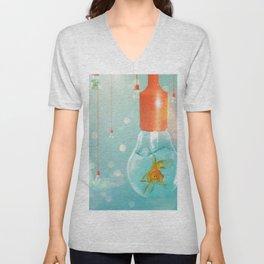 Ideas and Goldfish ... Unisex V-Neck