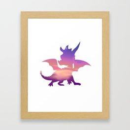 Spyro Lofty Castle Skybox Framed Art Print