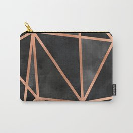 Black & Copper Geo Carry-All Pouch