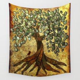 Twisted Oak Tree Wall Tapestry