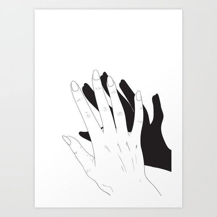 Hand Shadow Art Print