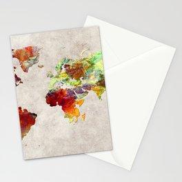 World Map 62 Stationery Cards