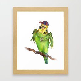 Budgie Rap Framed Art Print
