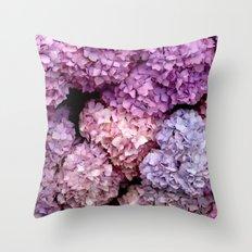 Spring Hydrangeas Throw Pillow