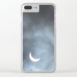 Cloudy Eclipse Clear iPhone Case