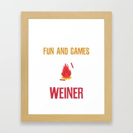 Sarcastic All fun and games Framed Art Print