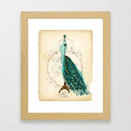 Peacock bustle mannequin Framed Art Print