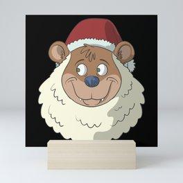 Bear as Santa Claus Mini Art Print