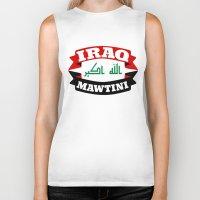 arab Biker Tanks featuring Iraq My Homeland Banner by mailboxdisco