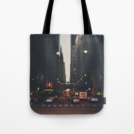sunset in the city ... Tote Bag
