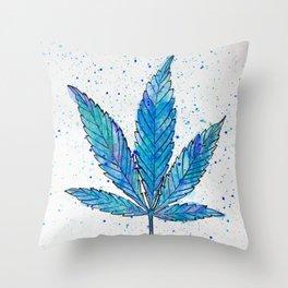 Canna Be Blue Throw Pillow