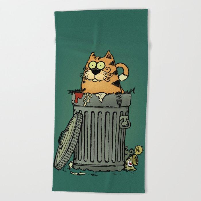 Stray cat Beach Towel