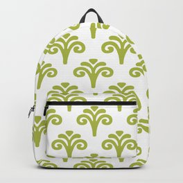Floral Pattern Chartreuse 241 Backpack