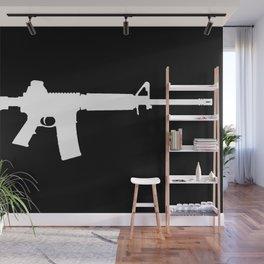 AR-15 (on black) Wall Mural