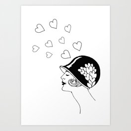 Love Thoughts, Fashion from  the 20's  Art Print
