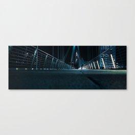 Man on Bridge Canvas Print