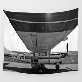 Sky Dive Airplane Wall Tapestry
