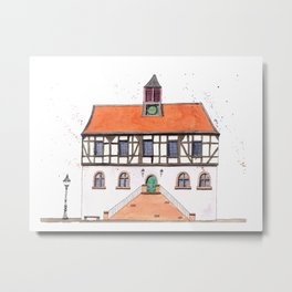 Timber-Framed House from Germany Metal Print