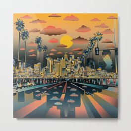 los angeles city skyline Metal Print