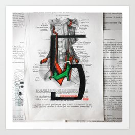 Type Human 5 Art Print