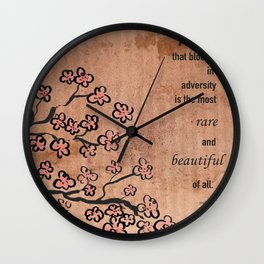mulan  quote Wall Clock