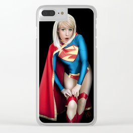 Supergirl Clear iPhone Case
