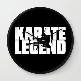 Karate Legend Wall Clock
