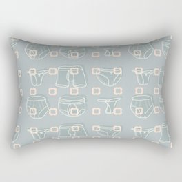 Underwear Grey Color Rectangular Pillow