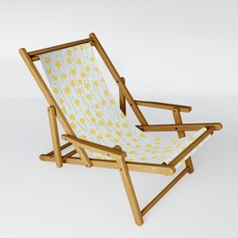 Buttercup Field M+M Evergreen by Friztin Sling Chair