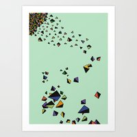 triangles Art Prints featuring Triangles by Jarvis Glasses