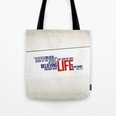 Life in His Name Tote Bag