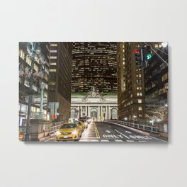 Grand Central at Night Metal Print